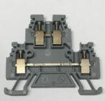Woertz 3430 Borne a 2 etages DIN35 4mm2 grise 4 poles