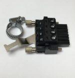 Beckhoff AX5000 ZS4500-2013 Connecteur pour AX5000: raccordement moteur X13 / X23, connecteur 4 broches / max. 4 mm², avec plaque de blindage, pour 1,5 ... 25 A