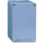 Schneider Electric XAPM44 Harmony XAPM boite a boutons vide metallique sans percage, 80x220mm couleur bleu