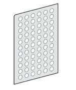 Schneider Electric ZBY 1147 Harmony planche de 66 etiquettes - Ø22 - ronde - I Vente par quantite indivisible 10