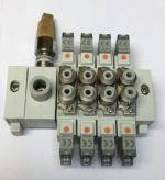 SMC SS5Y5-KLI061 Ensemble Embase serie SY5000 avec Electrovanne, distruibuteur 5/2 ø4 (4 Electrovannes)