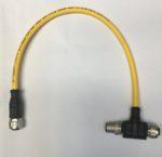 Pilz 540328 PSEN Y junction M12-M12/M12 Cable Y pour PSENcode, PSENslock. Prise d'entree 1 x M12 / 8 broches; Connecteur de sortie 2 x M12 / 8 broches. Blindage: non Nombre de fils: 8