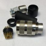 Binder 9920412019 Fiche ronde male M16 19 poles a Souder, classe de protection IP40, Intensite nominale 3 A, tension nominale 60V