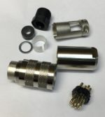 Binder 9951710008 Fiche ronde male M16 8 poles a Souder, classe de protection IP67, Intensite nominale 5 A, tension nominale 60V